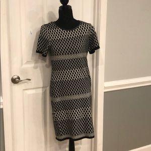 New York and Company black & white Dress